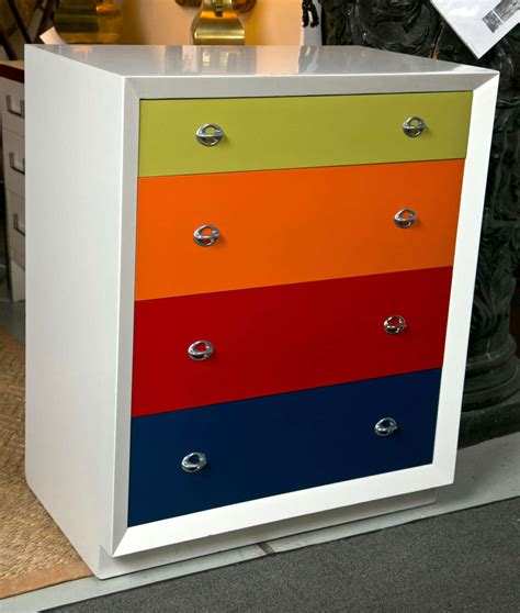 Colored Drawers by A Pair Of Multi Colored Deco Style Bachelor Chests At