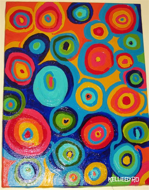 abstract paintings with circles circles by kellie byrd painting canvas acrylic