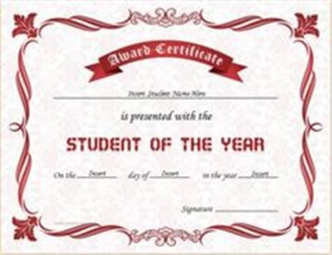 student of the year award certificate templates mathematics excellence award certificate template for ms