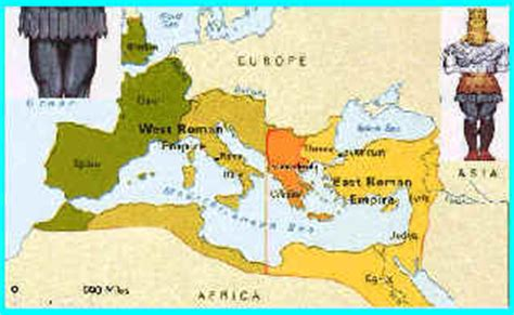why was the roman empire divided into two sections daniel2p30