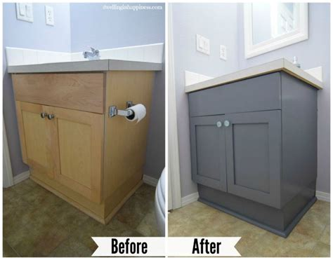 How To Paint Your Bathroom Vanity The Easy Way Painting Bathroom Vanity Before And After