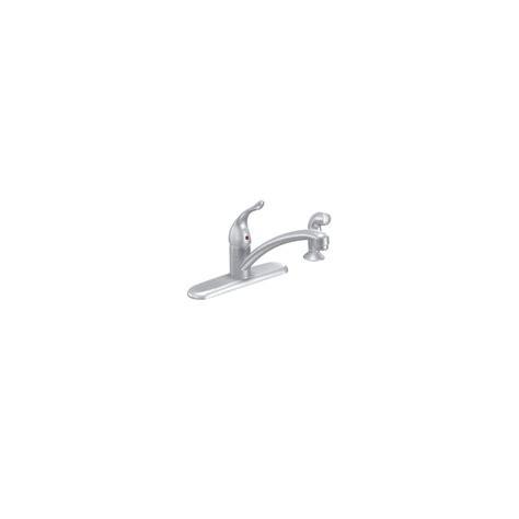 moen chateau single handle kitchen faucet moen 7430bc brushed chrome single handle kitchen faucet