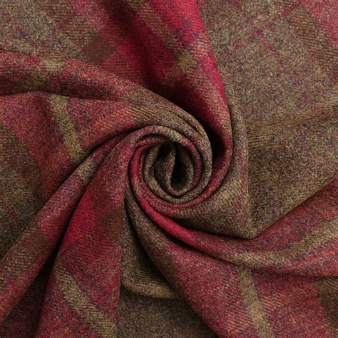 upholstery wool fabric 100 pure scotish upholstery wool woven tartan check plaid