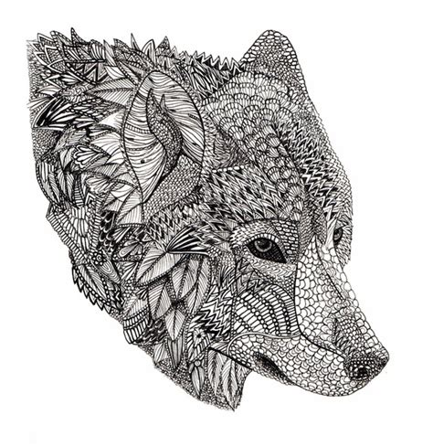 pattern in chief meaning coloriage mandala de loup 8 tatouages pinterest