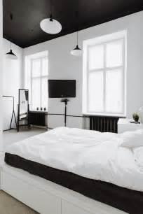 black bedroom ceiling interior design ideas