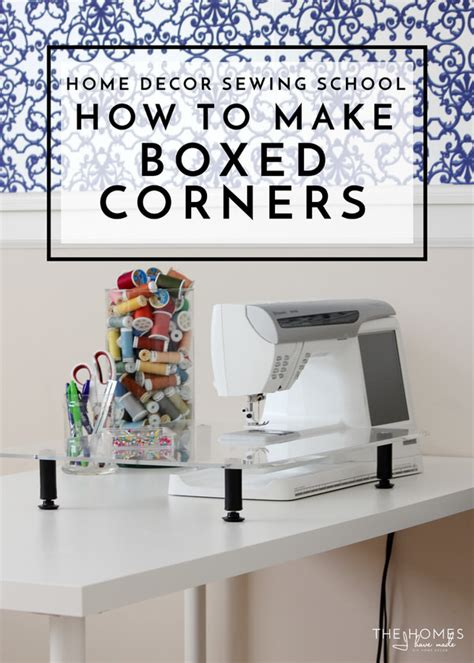 home decor sewing ideas 10 free home decor sewing patterns how to decorate your room with 21 home decor sewing school how to sew boxed corners the