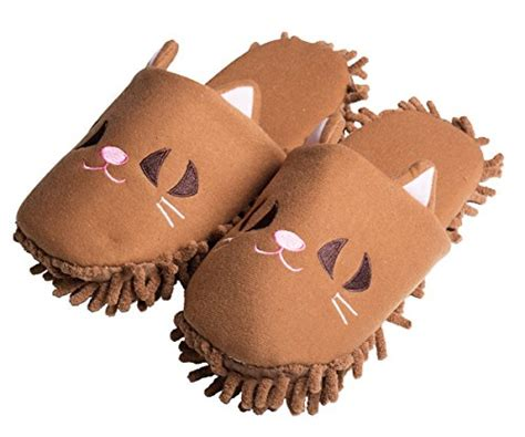 animal house shoes hometop plush fluffy cute animal microfiber mop cleaning