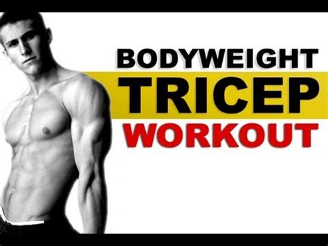 the ultimate bodyweight triceps exercise diy reviews