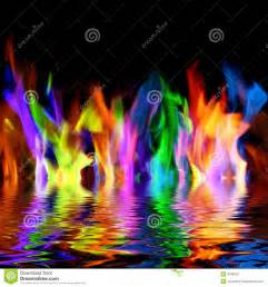 colorful flames colorful flames stock photo image 4786920