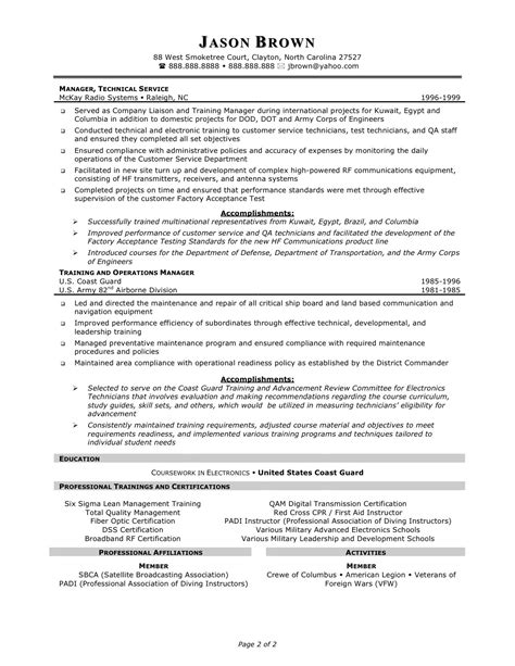 resume for technical support sle specialist cover letter customer service manager technical