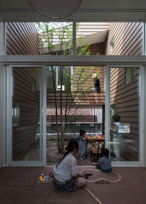garden inside house a modern japanese house with a garden inside