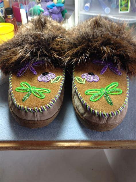 beaver fur slippers 44 best alaska beadwork slippers images on
