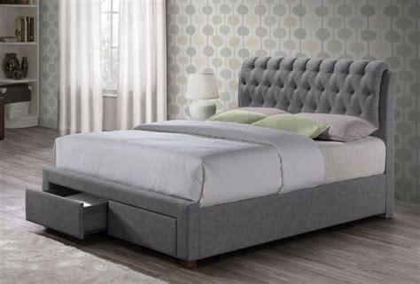 Valencia Bed Frame Valencia Grey Fabric 2 Drawer Bed Frame Bed Frames Bed Frames