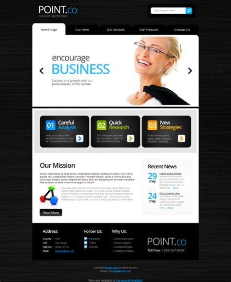 free full html5 business template templates perfect