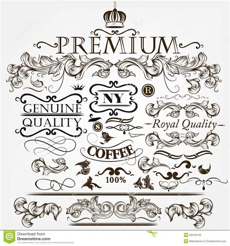 decorative classic wedding design elements vector collection of vector vintage decorative elements for