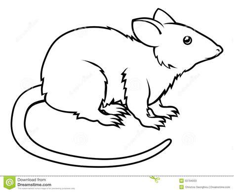 drawing free stylised rat illustration stock vector illustration of