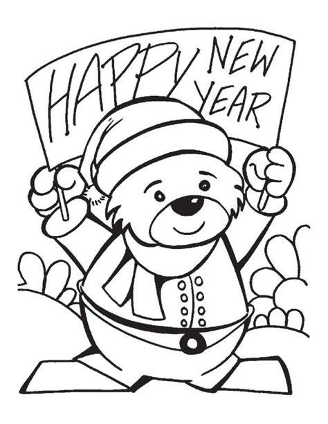 free coloring page happy new year new years day coloring pages coloring home