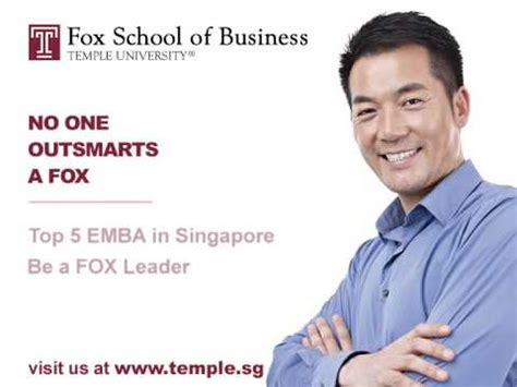 Fox Mba Review temple fox school of business emba tvc