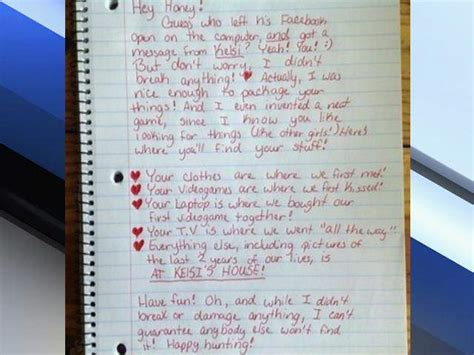 up letter for cheater scavenger hunt breakup letter goes viral on imgur after