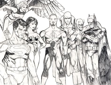justice league pencils by peetietang on deviantart