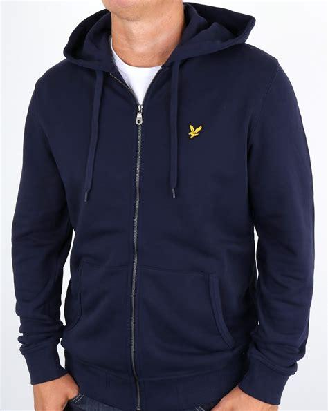 Jacket Hoodie Zipper Navy lyle and zip through hoodie navy hooded track jacket top mens