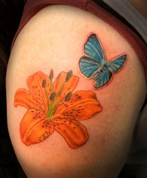 image gallery orange flower tattoos