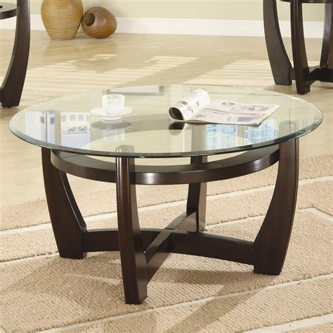 Coaster 700295 Brown Glass Coffee Table Set Steal A Sofa Glass Coffee Table Sets