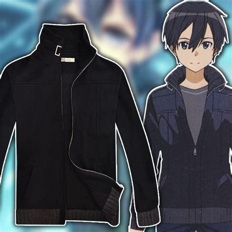 design jacket anime anime sao sword art online kirito cosplay hoodie coat