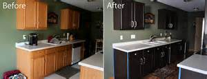 Staining Kitchen Cabinets Darker Before And After Kitchen Before And After Gel Staining Of Cabinets