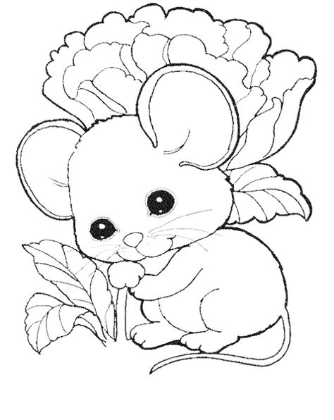 mouse coloring page az coloring pages