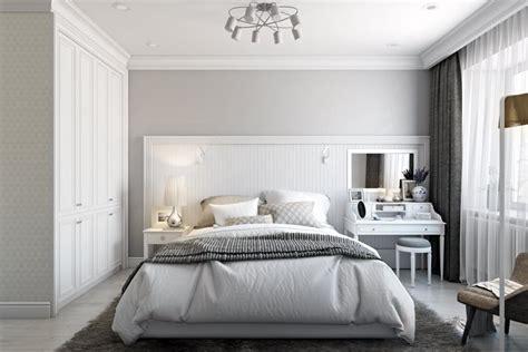 white classic bedroom design visualization archicgi