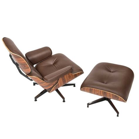 leather lounge chair and ottoman eames designed lounge chair with ottoman a steelform