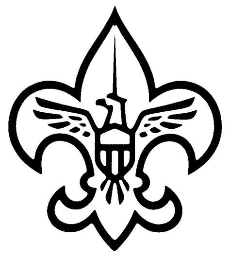 Scout Logo Outline by Fleur De Lis Coloring Pages Coloring Home