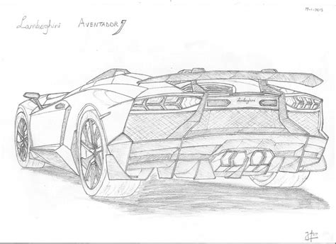 lamborghini aventador drawing outline how to draw lambo aventador
