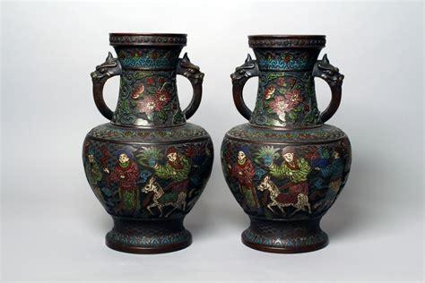 Art Nouveau Vases Vase En Bronze Et Cloisonn 233 Japon Xix 232 Me Antiquaire