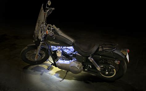 Motorcycle Light by Led Light Accenting Motorcycle Engine