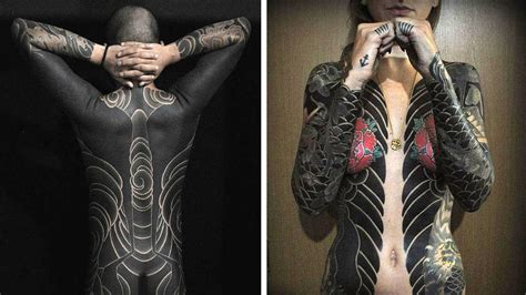tattoo full body suit bold japanese tattoos that looks like full body suits so