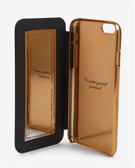 Ted Baker Iphone 66s 2 ted baker mirrored iphone 6 in black for lyst