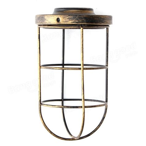 bulb cage guard iron vintage ceiling pendant l shade
