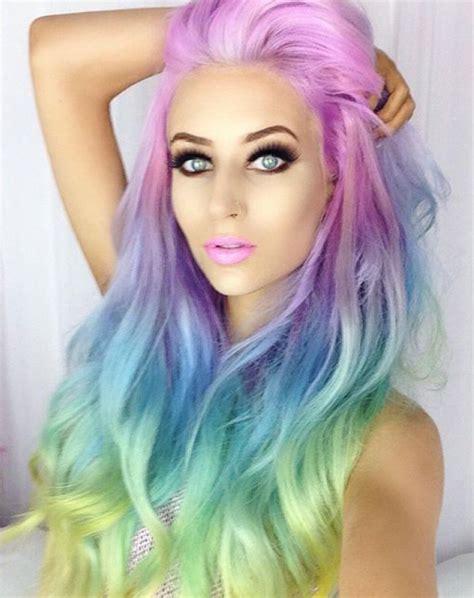 goddess of color iris goddess of the rainbow gods hair dyed