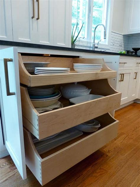 pull out drawers kitchen cabinets before after kitchen makeover ideas home bunch