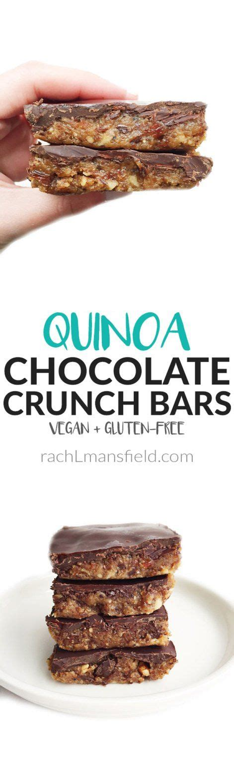 quinoa chocolate crunch bars recipe quinoa bar and