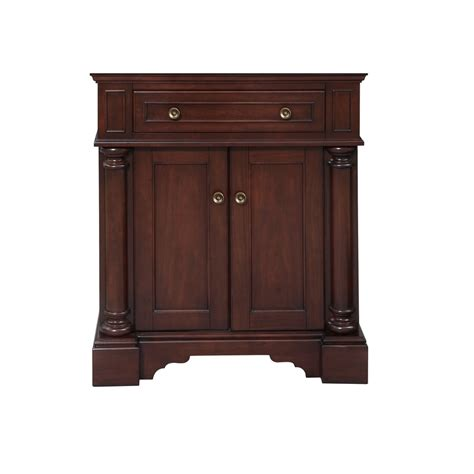 Bathroom Vanity 30 Shop Allen Roth Rosemere Auburn Traditional Bathroom Vanity Common 30 In X 21 In Actual 30