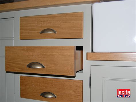 bespoke custom made painted fitted kitchens incite derby custom made kitchen units painted with oak trim
