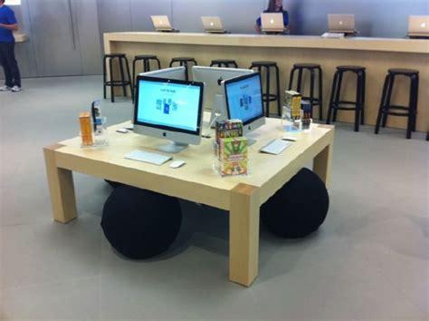 fetzer maple apple store display table classroom