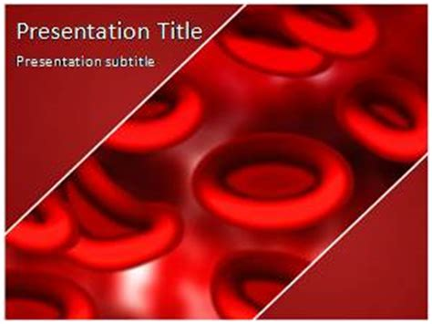 Blood Cells Free Powerpoint Template And Background Blood Ppt Templates Free