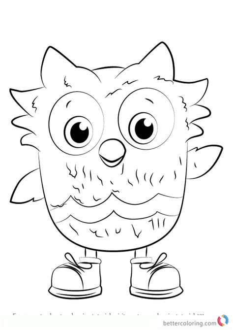 O The Owl Coloring Page by O The Owl From Daniel Tiger Coloring Pages Free