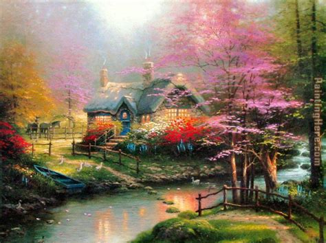 kinkade cottage 1000 images about paintings kincade on