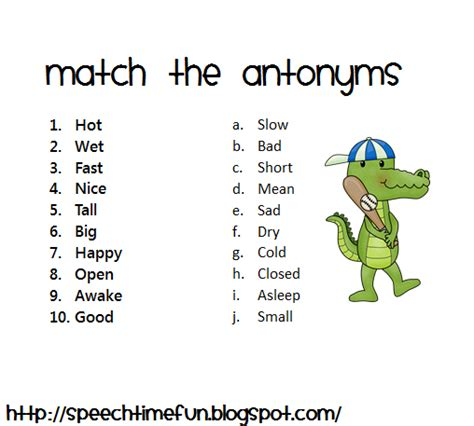 speech pattern synonym all worksheets 187 antonym worksheets printable worksheets