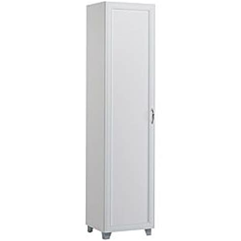 16 inch deep storage cabinets prepac winslow white 16 inch broom cabinet